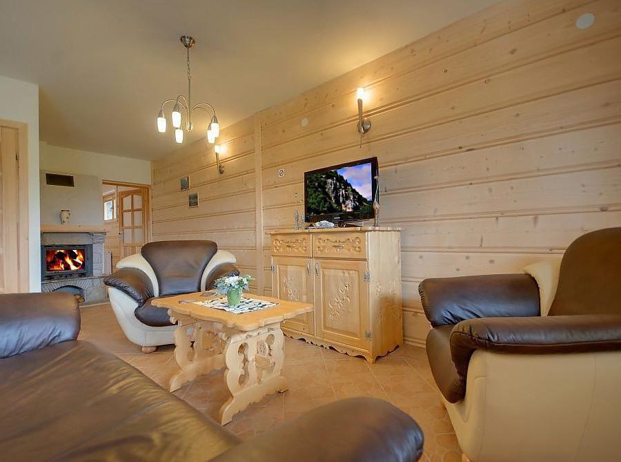 Apartment 1 mit einem Kamin in Zakopane Ferienpark in Polen
