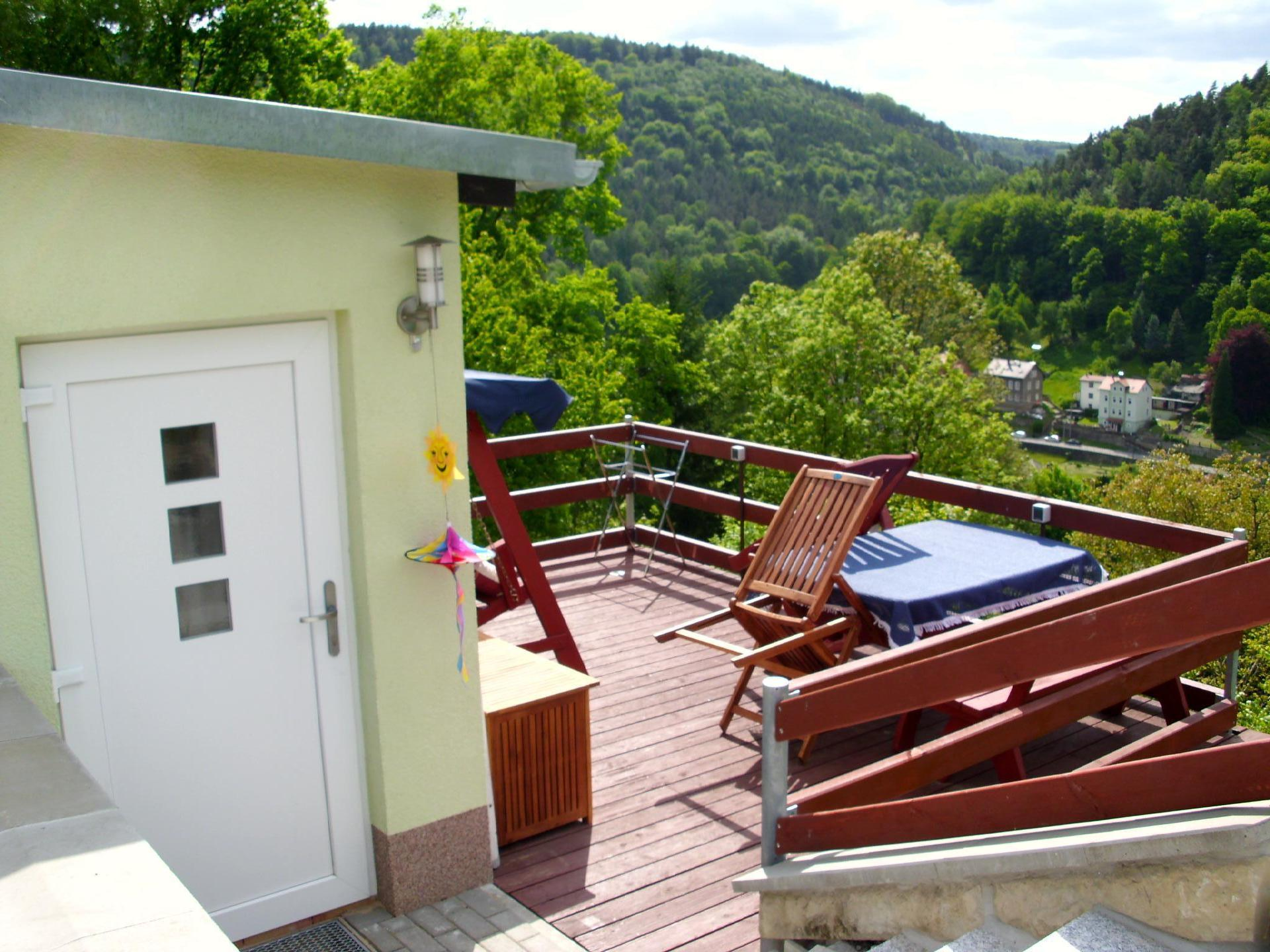 Ferienhaus Panorama-Blick mit 2 getrennten Schlafz  in Königstein
